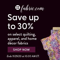 Fabrics 30% Savings