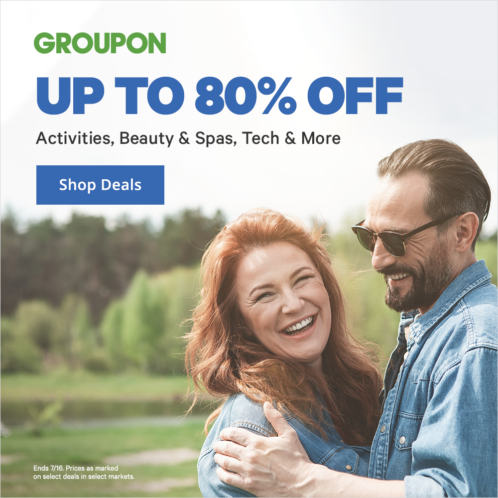 80 Precent Off Groupon Today
